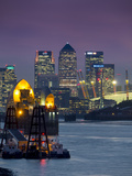 Canary Wharf and Docklands Skyline from Woolwich, London, England, United Kingdom
