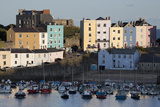 View over Harbour, Tenby, Carmarthen Bay, Pembrokeshire, Wales, United Kingdom, Europe