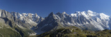 Panorama of the Mountain Range of Mont Blanc, Haute Savoie, French Alps, France
