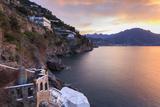 Sunrise, Dawn on the Costiera Amalfitana (Amalfi Coast), View Towards Maiori, Campania, Italy