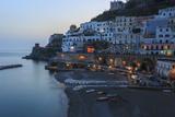 Blue Hour, Dusk in Atrani, Near Amalfi, Costiera Amalfitana (Amalfi Coast), Campania, Italy