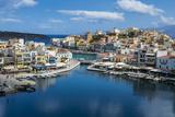 View over Lake Voulismeni, Agios Nikolaos, Crete, Greek Islands, Greece