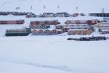 View of Longyearbyen, Spitsbergen, Svalbard, Arctic Circle, Norway, Scandinavia