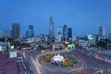 View of City Skyline at Dusk, Ho Chi Minh City, Vietnam, Indochina, Southeast Asia, Asia