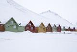 Longyearbyen Houses, Spitsbergen, Svalbard, Arctic Circle, Norway, Scandinavia