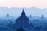 Temples and Pagodas in Early Morning Mist at Dawn, Bagan (Pagan), Myanmar (Burma)
