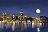 Baltimore, Maryland - Skyline at Night (#2)