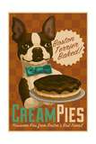 Boston Terrier - Retro Cream Pie Ad