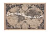 Love Makes the World Go Round - 1680, World Map