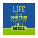 Life Is a One Time Offer 1