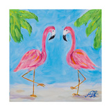 Fancy Flamingos III