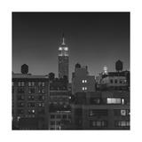 Manhattan Water Tanks Empire State Building Evening 2