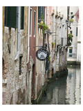 Italy Venice Canal By Building