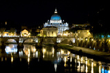 St Peters Rome At Night