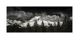 Mt Rainier Panorama BW