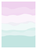 Mint Lavender Abstract