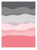 Coral Gray Abstract