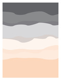 Gray Peach Abstract