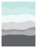 Mint Gray Abstract