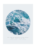 Inspirational Circle Design - Ocean Waves: The Cure for Anything is Salt Water: Sweat, Tears or the Sea (Karen Blixen)
