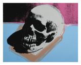 Skull, 1976 (white on blue and pink)