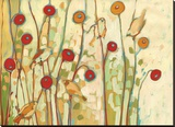 Five Little Birds Playing Amongst the Poppies