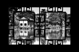 China 10MKm2 Collection - Asian Window - Temple Reflections