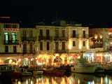 Old Harbour at Night, Rethymnon, Crete, Greece