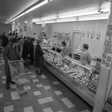 The Meat Counter at the Asda Supermarket in Rotherham, South Yorkshire, 1969