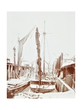Sailing Barges, Battersea, London, 1906
