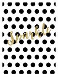 Sparkle Gold Glitter Dots