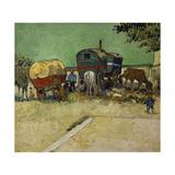 The Caravans, Gypsy Encampment Near Arles, 1888