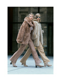 Two Models Walking in Front of the Seagrams Building in New York City