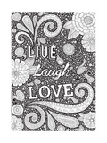 Live Laugh Love Black