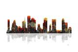 Houston Texas Skyline BW 1