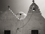 Greece, Mykonos. Church Steeples and Crosses