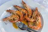Portugal, Porto, Shrimp with Garlic and Butter
