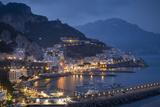 Twilight over Amalfi Along the Amalfi Coast, Campania, Italy