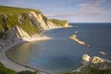 Overlooking Man O War Bay Along the Jurassic Coast, Dorset, England