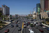 Traffic at Tropicana Avenue and the Strip, Las Vegas, Nevada