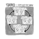 """""TRAPPED IN A HOW-ARE-YOU VORTEX"""" - New Yorker Cartoon"