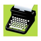 An Angry typewriter - Cartoon