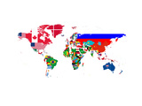 World Map Contry Flags 2