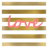 Pink And Gold Love