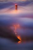 Ethereal Golden Bridge, San Francisco California