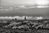 Stormy Southwest Utah in Black and White, Arches