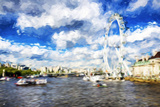 River Thames - In the Style of Oil Painting