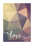 Geometric Love Purplebrown