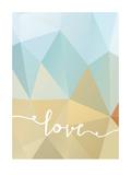 Geometric Love Bluebrown