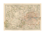 Plate 10. Map of London and Vicinity. England